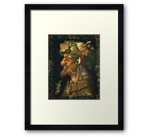 Vintage famous art - Giuseppe Arcimboldi - Autumn, From A Series Depicting The Four Seasons  Framed Print