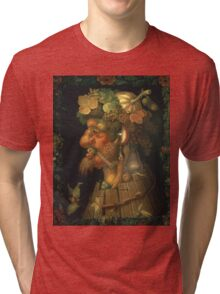 Vintage famous art - Giuseppe Arcimboldi - Autumn, From A Series Depicting The Four Seasons  Tri-blend T-Shirt