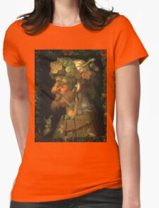 Vintage famous art - Giuseppe Arcimboldi - Autumn, From A Series Depicting The Four Seasons  Womens Fitted T-Shirt