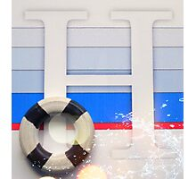 Nautical Letter H Photographic Print