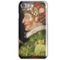 Vintage famous art - Giuseppe Arcimboldi - Spring, From A Series Depicting The Four Seasons  iPhone Case/Skin