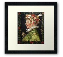 Vintage famous art - Giuseppe Arcimboldi - Spring, From A Series Depicting The Four Seasons  Framed Print