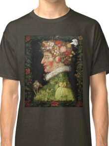 Vintage famous art - Giuseppe Arcimboldi - Spring, From A Series Depicting The Four Seasons  Classic T-Shirt