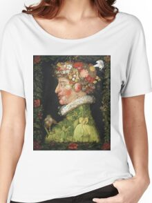 Vintage famous art - Giuseppe Arcimboldi - Spring, From A Series Depicting The Four Seasons  Women's Relaxed Fit T-Shirt