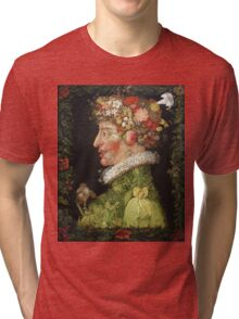 Vintage famous art - Giuseppe Arcimboldi - Spring, From A Series Depicting The Four Seasons  Tri-blend T-Shirt