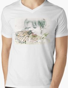 Butterfly Kisses Mens V-Neck T-Shirt