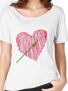 Heart  unique and  retro  Women's Relaxed Fit T-Shirt