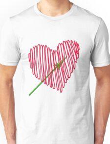 Heart  unique and  retro  Unisex T-Shirt