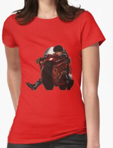 Kaneda on his bike Womens Fitted T-Shirt