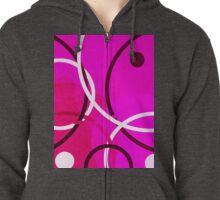 Random Pink Zipped Hoodie