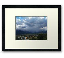Rocky Mountain Storm Framed Print