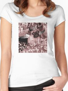 Pug Angels Rule Women's Fitted Scoop T-Shirt