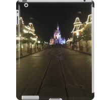 Empty Main Street at night iPad Case/Skin