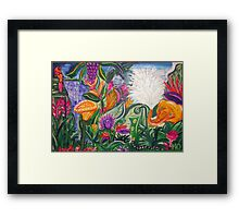 """Playing in the jungle """"Summer Party"""" Framed Print"""