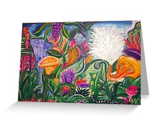 """Playing in the jungle """"Summer Party"""" Greeting Card"""