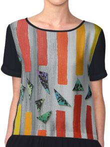 Escaping through barriers Chiffon Top
