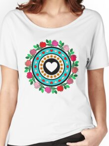 Floral Hearts!  Women's Relaxed Fit T-Shirt