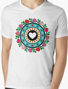 Floral Hearts!  Mens V-Neck T-Shirt