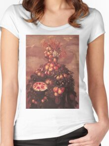 Vintage famous art - Giuseppe Arcimboldi - Summer Women's Fitted Scoop T-Shirt