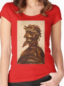 Vintage famous art - Giuseppe Arcimboldi - The Four Elements - Water Women's Fitted Scoop T-Shirt