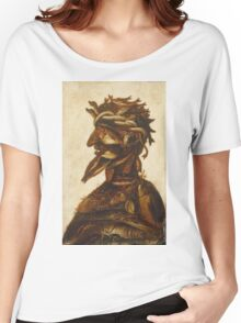 Vintage famous art - Giuseppe Arcimboldi - The Four Elements - Water Women's Relaxed Fit T-Shirt