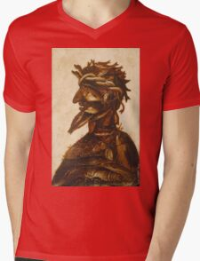 Vintage famous art - Giuseppe Arcimboldi - The Four Elements - Water Mens V-Neck T-Shirt