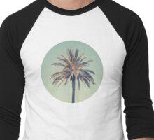 Retro palm tree Men's Baseball ¾ T-Shirt
