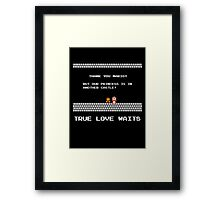 True Love Waits Framed Print