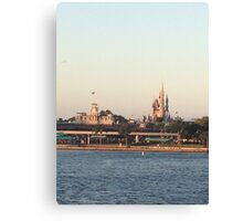 Magic Kingdom from the ferry boat Canvas Print