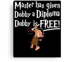 Dobby Graduate- No year Canvas Print