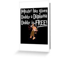 Dobby Graduate- No year Greeting Card