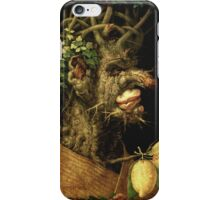 Vintage famous art - Giuseppe Arcimboldi - Winter iPhone Case/Skin
