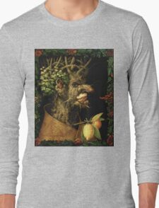 Vintage famous art - Giuseppe Arcimboldi - Winter Long Sleeve T-Shirt