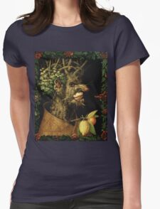 Vintage famous art - Giuseppe Arcimboldi - Winter Womens Fitted T-Shirt