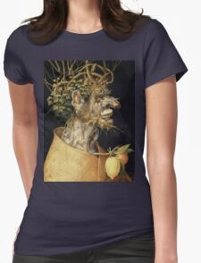 Vintage famous art - Giuseppe Arcimboldi - Winter2 Womens Fitted T-Shirt