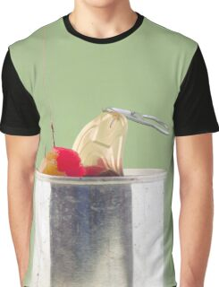 Hooked On Sugar; Canned Fruit Graphic T-Shirt