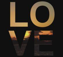 Love (Sunset edition) Kids Tee