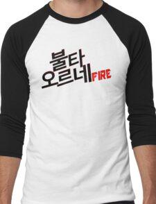 ♥♫Fire BTS-Bangtan Boys K-Pop Clothes & Phone/iPad/Laptop/MackBook Cases/Skins & Bags & Home Decor & Stationary♪♥ Men's Baseball ¾ T-Shirt