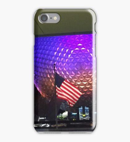 Patriotic Spaceship Earth iPhone Case/Skin
