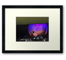 Patriotic Spaceship Earth Framed Print