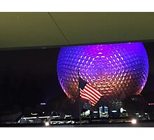 Patriotic Spaceship Earth Photographic Print