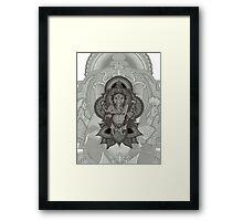 Ganesha2 - white Framed Print