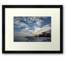 Brilliant Sunshine After the Snowstorm – a Winter Beach on Lake Ontario Framed Print