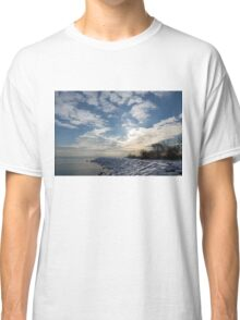 Brilliant Sunshine After the Snowstorm – a Winter Beach on Lake Ontario Classic T-Shirt