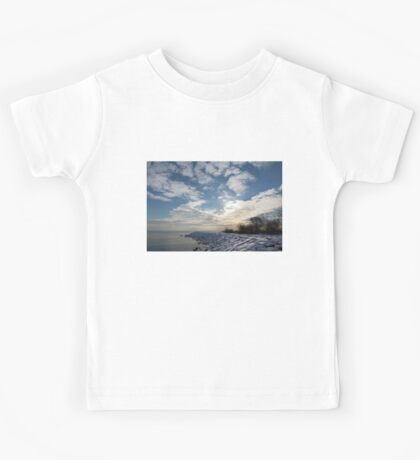 Brilliant Sunshine After the Snowstorm – a Winter Beach on Lake Ontario Kids Tee