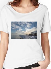 Brilliant Sunshine After the Snowstorm – a Winter Beach on Lake Ontario Women's Relaxed Fit T-Shirt