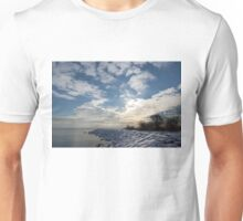 Brilliant Sunshine After the Snowstorm – a Winter Beach on Lake Ontario Unisex T-Shirt