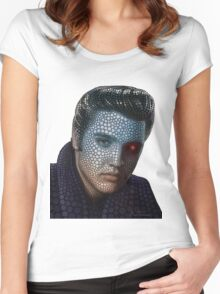 POP ART Elvis Women's Fitted Scoop T-Shirt