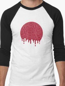 Painted Red Men's Baseball ¾ T-Shirt
