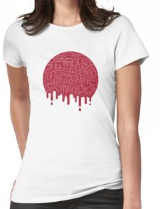 Painted Red Womens Fitted T-Shirt